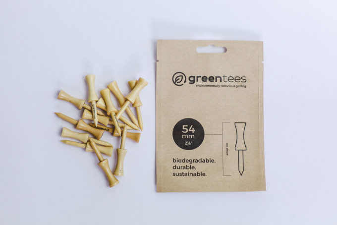 "54mm 2 ⅛"" Castle / Graduated Wooden Biodegradable Golf Tees"