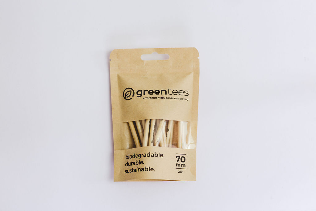 recyclable packaging green tees golf
