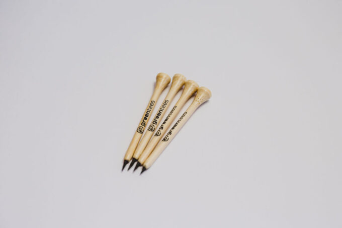 bamboo golf tee pencils green tees